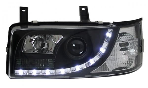 Scheinwerfer Tagfahrlicht Optik VW T4 Bj. 90-03 Schwarz