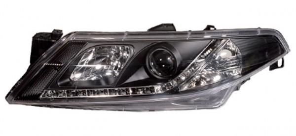 Scheinwerfer Tagfahrlicht Optik Renault Laguna Bj. 01-05 Schwarz
