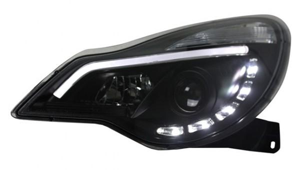 Scheinwerfer Light Tube Opel Corsa D Bj. 2011- Schwarz