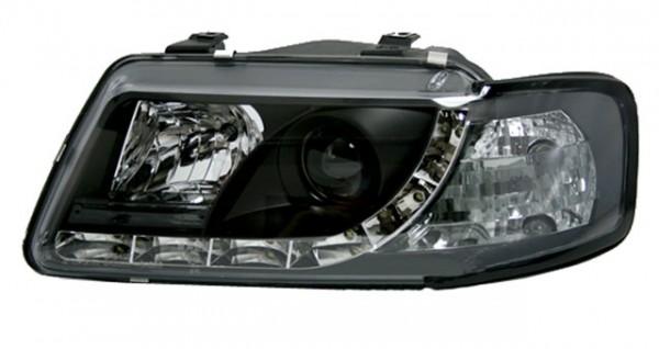 Scheinwerfer DRL Tagfahrlicht für Audi A3 8L Bj. 96-00 Schwarz