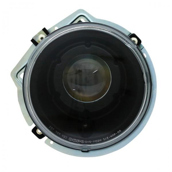 Scheinwerfer Klarglas für Mercedes W461 W463 Bj. 92-06 Schwarz