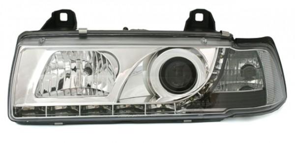 Scheinwerfer Tagfahrlicht Optik für BMW E36 Cabrio Chrom