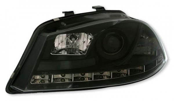 Scheinwerfer Tagfahrlicht Optik für Seat Ibiza 6L Bj. 02-08 Schwarz