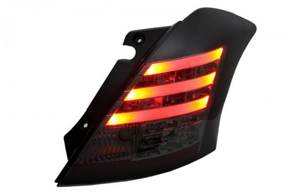 LED Lightbar Rückleuchten für Suzuki Swift Sport Bj. 2010- Schwarz/Smoke
