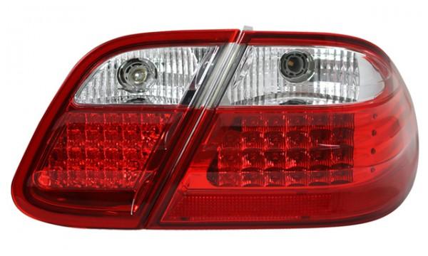 LED Rückleuchten für Mercedes CLK W208 Bj. 97-02 Rot/Chrom