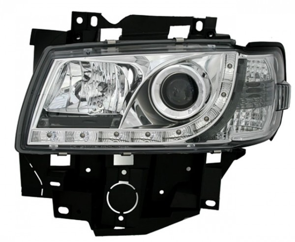 Scheinwerfer Tagfahrlicht Optik VW T4 Caravelle Bj. 96-03 Chrom