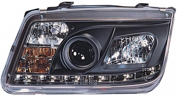Scheinwerfer DRL Tagfahrlicht VW Bora Bj. 98-05 Schwarz