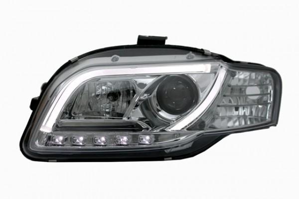Scheinwerfer Light Tube für Audi A4 B7 Bj. 04-07 Chrom