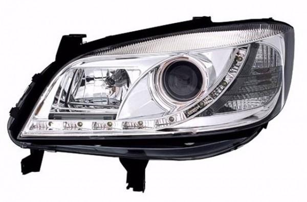 Scheinwerfer Tagfahrlicht Optik für Opel Zafira Bj. 99-05 Chrom