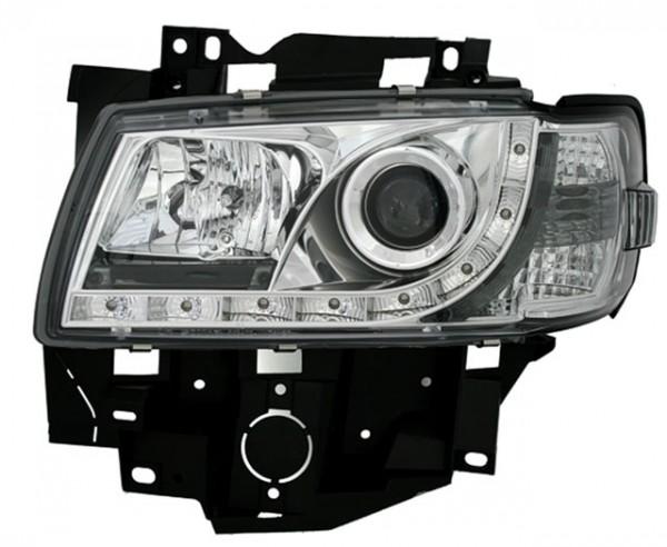 Scheinwerfer Tagfahrlicht Optik VW T4 Multivan Bj. 96-03 Chrom