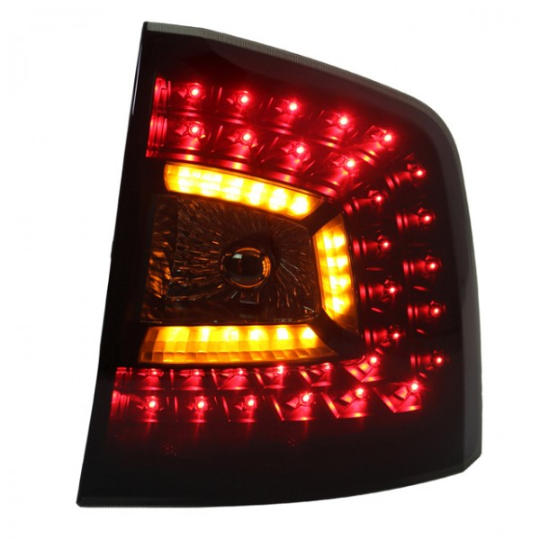 LED Rückleuchten für Skoda Octavia 1Z Kombi auch RS Bj. 04-13 Schwarz/Smoke