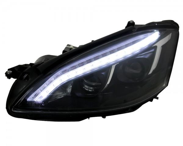 Xenon Scheinwerfer Mercedes S-Klasse W221 Bj. 05-09 Schwarz LED Tagfahrlicht Optik