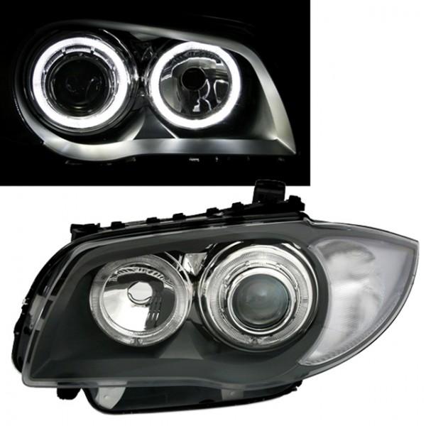 Scheinwerfer Angel Eyes für BMW E81/E87 Bj. 04-11 Grau