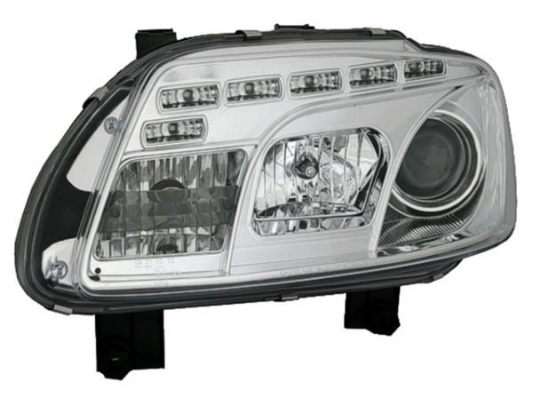 Scheinwerfer Tagfahrlicht Optik VW Touran 1T/Caddy 03-06 Chrom