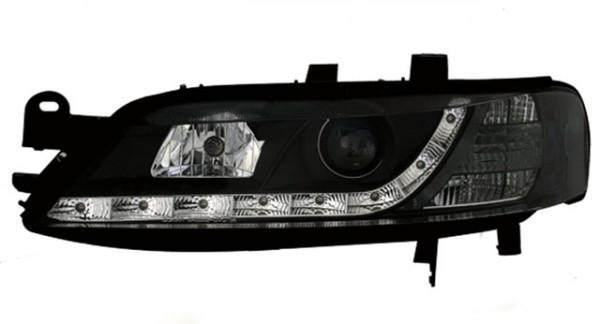 Scheinwerfer Tagfahrlicht Optik für Opel Vectra B Bj. 99-02 Schwarz
