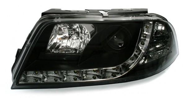 Scheinwerfer DRL Tagfahrlicht für VW Passat 3BG Bj. 00-05 Schwarz