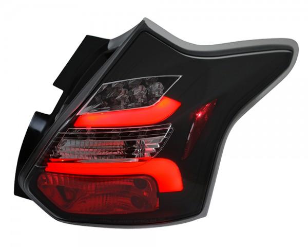 LED Lightbar Rückleuchten Ford Focus MK3 Bj. 2011-2014 Schwarz