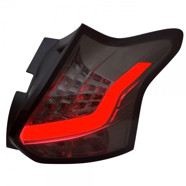 LED Lightbar Rückleuchten für Ford Focus III MK3 Bj. 2011-2014 Smoke