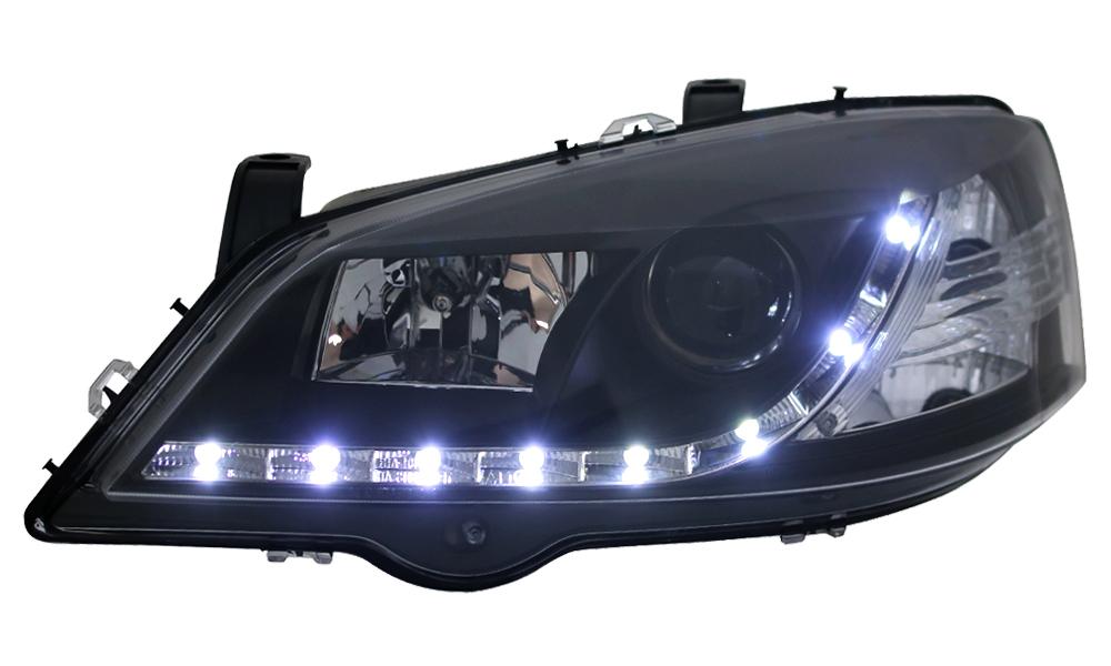 scheinwerfer tagfahrlicht optik opel astra g bj 97 04. Black Bedroom Furniture Sets. Home Design Ideas