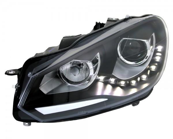 Scheinwerfer DRL TFL Tagfahrlicht R87 für VW Golf 6 VI Bj. 08-13 Schwarz