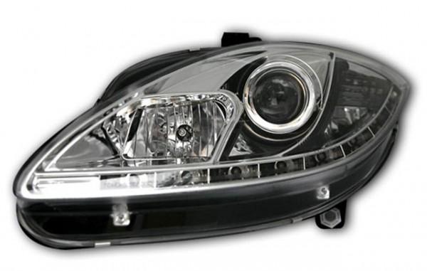 Scheinwerfer Tagfahrlicht Optik für Seat Leon 1P Bj. 04-09 Chrom
