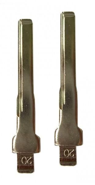 2 x Schlüsselrohling für Mercedes Benz C-Klasse