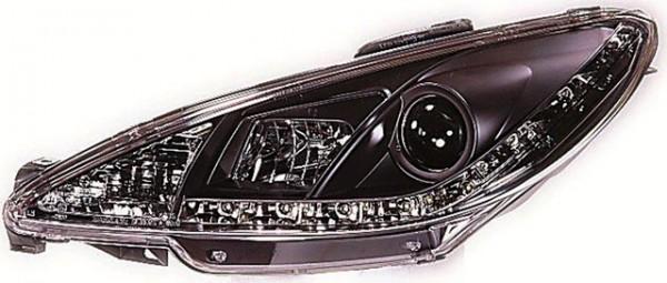 Scheinwerfer DRL Tagfahrlicht Peugeot 206 Bj. 98-07 Schwarz
