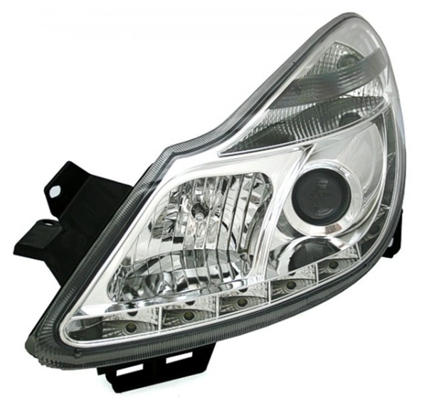 Scheinwerfer Tagfahrlicht Optik Opel Corsa D Bj. 06-11 Chrom