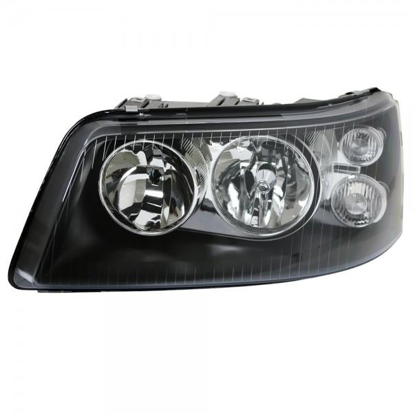 Doppellinsen Scheinwerfer Klarglas VW T5 Bj. 03-09 Schwarz