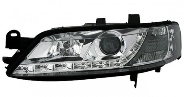Scheinwerfer Tagfahrlicht Optik für Opel Vectra B Bj. 99-02 Chrom
