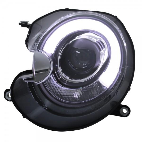 Scheinwerfer Light Tube Mini One Cooper Bj. 06-14 Schwarz Tagfahrlicht Optik