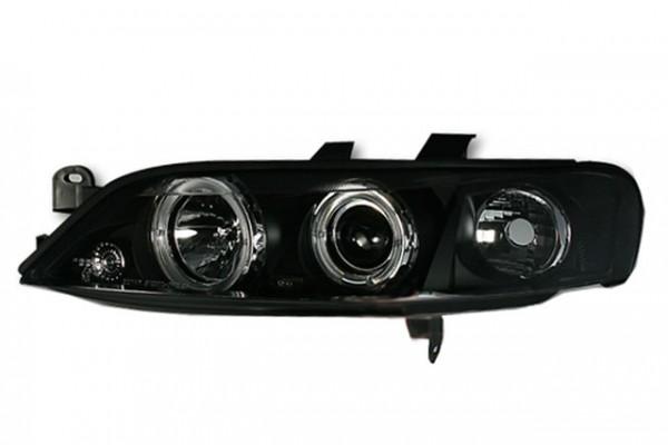 Scheinwerfer Angel Eyes für Opel Vectra B Bj. 99-02 Schwarz