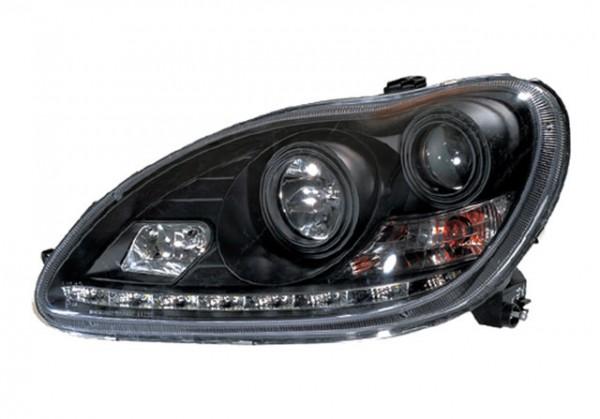Xenon D2S Scheinwerfer TFL Optik für Mercedes Benz W220 Schwarz