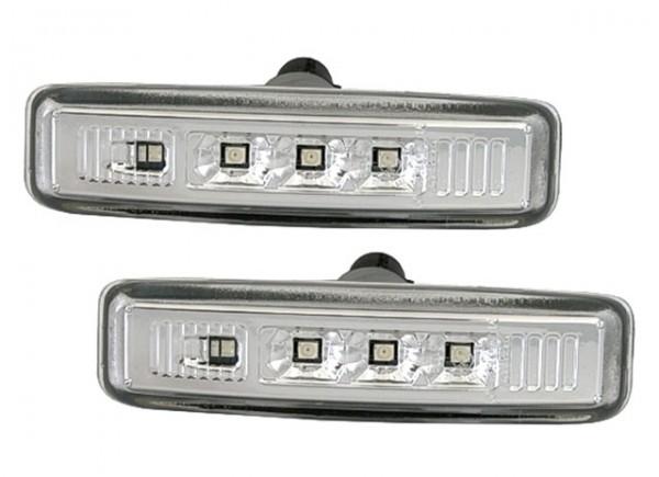 LED Seitenblinker Set Chrom für 5er für BMW E39