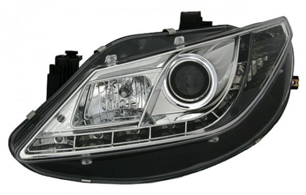 Scheinwerfer Tagfahrlicht Optik Seat Ibiza 6J Bj. 08-12 Chrom