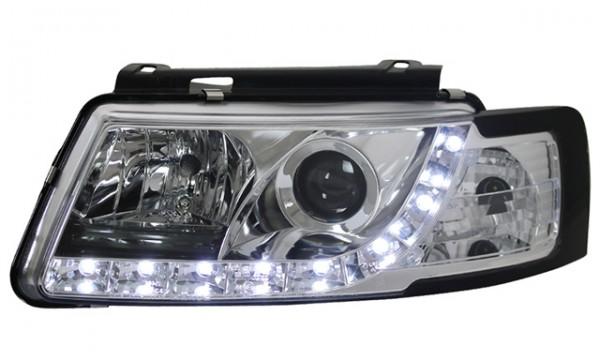 Scheinwerfer Tagfahrlicht Optik VW Passat 3B Bj. 96-00 Chrom