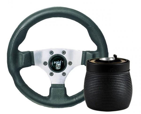 Seat Cordoba 6K/C Raid Sportlenkrad 300mm HP Sport Silber + Nabe
