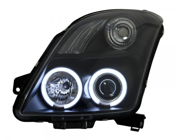 Scheinwerfer Angel Eyes CCFL Suzuki Swift Typ MZ/EZ Bj. 05-10 Schwarz