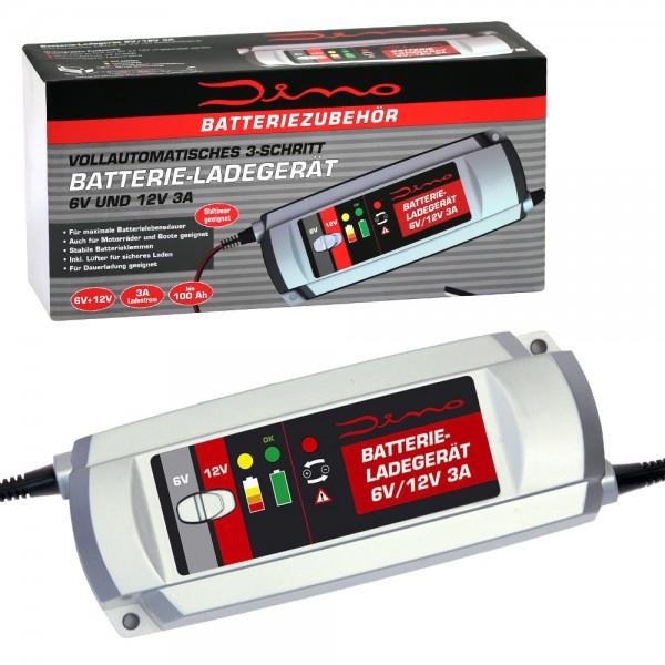 Dino KRAFTPAKET Batterieladegerät Ladegerät 6V 12V 3A KFZ Auto Motorrad