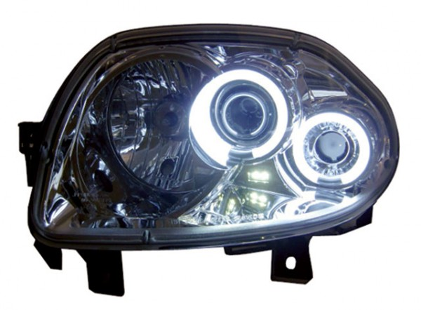 Scheinwerfer Angel Eyes CCFL Renault Clio 2 Bj. 98-01 Chrom