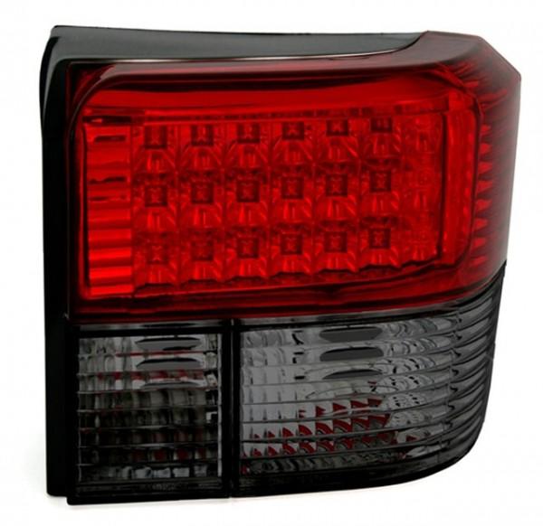 LED Rückleuchten Klarglas VW T4 Bus Bj. 90-03 Rot/Schwarz