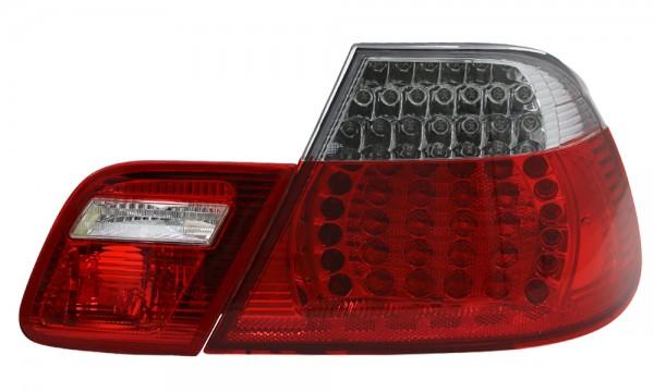 LED Rückleuchten für BMW E46 Coupe Bj. 99-03 Rot/Chrom