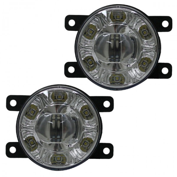 LED Nebelscheinwerfer Set + TFL Tagfahrlicht Nissan Kubistar