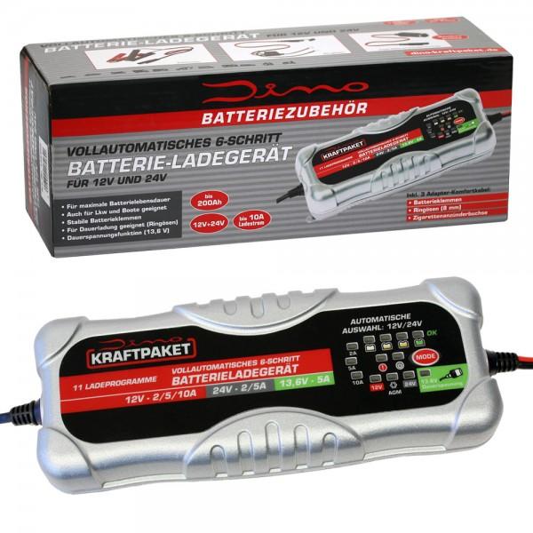 Dino KRAFTPAKET Batterieladegrät Ladegerät 12V 24V 10A Auto LKW
