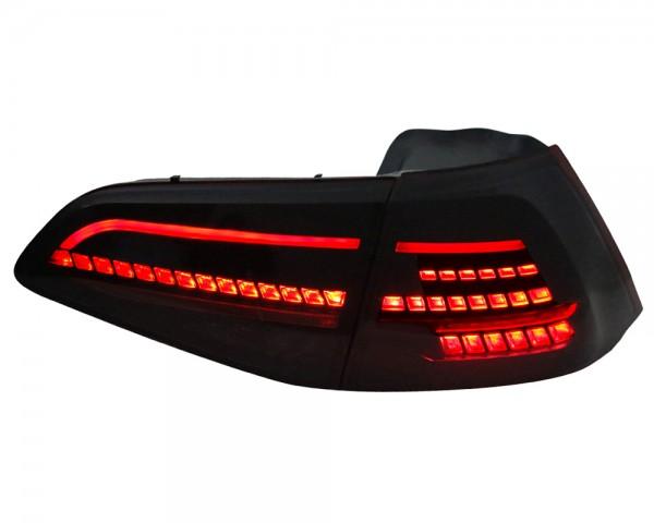 LED Rückleuchten für VW Golf 7 VII Rot/Smoke Laufblinker Dynamischer Blinker R-Look