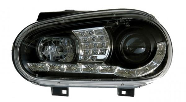 Scheinwerfer Tagfahrlicht Optik VW Golf 4 Bj. 97-03 Schwarz