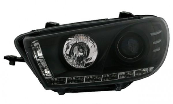 Scheinwerfer Tagfahrlicht Optik für VW Scirocco Bj. 08- Schwarz