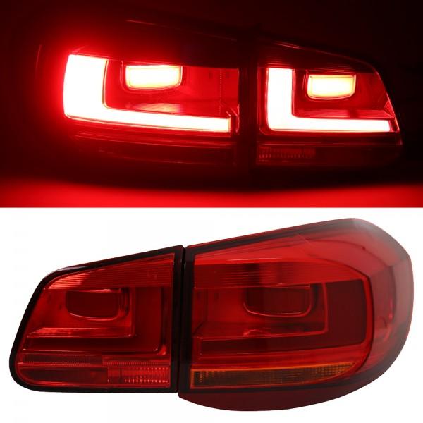 LED Lightbar Rückleuchten Facelift Optik für VW Tiguan 5N Bj. 2007-2011 Rot/Gelb