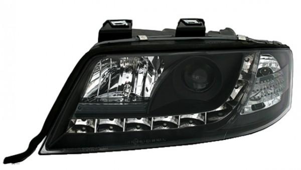 Scheinwerfer Tagfahrlicht Optik Audi A6 4B C5 97-01 Schwarz