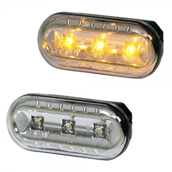 LED Seitenblinker Set Chrom für Ford Focus MK2 Bj. 04-07